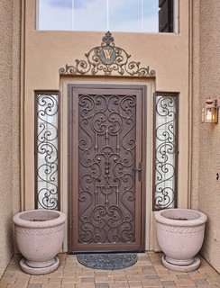 Tuscan Security Screen Door by First Impression Security Doors - Mediterranean - Screen Doors ...