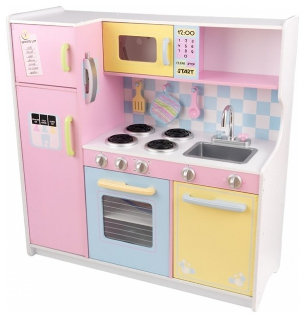 KidKraft Pastel Kitchen Toy, Large  Contemporary  Kids Toys And