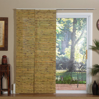 Panel Track Bamboo Blind in Java Natural - Modern - Window ...