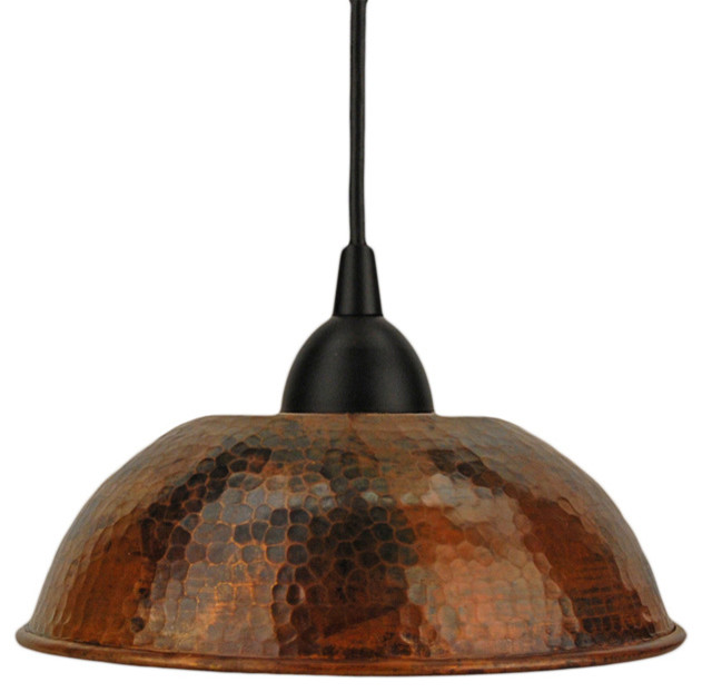 Hand Hammered Copper Dome Pendant Light