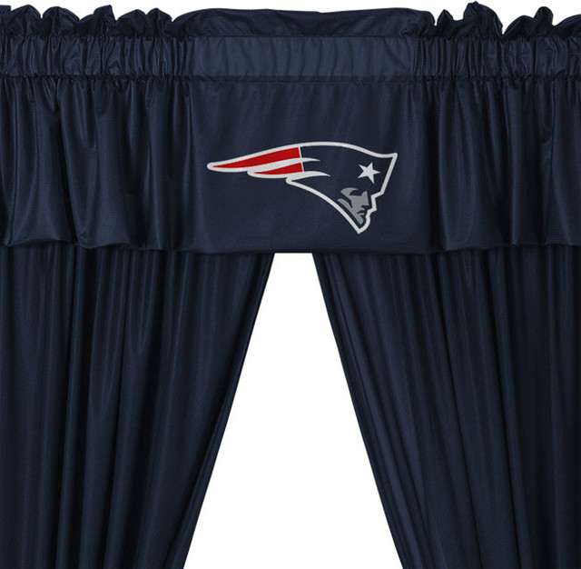 ... Patriots 5-Piece Long Jersey Curtain Valance Set contemporary-curtains