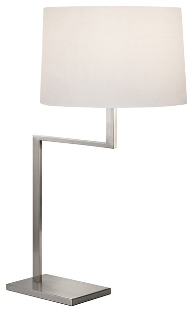 Sonneman Thick Thin Satin Nickel Table Lamp