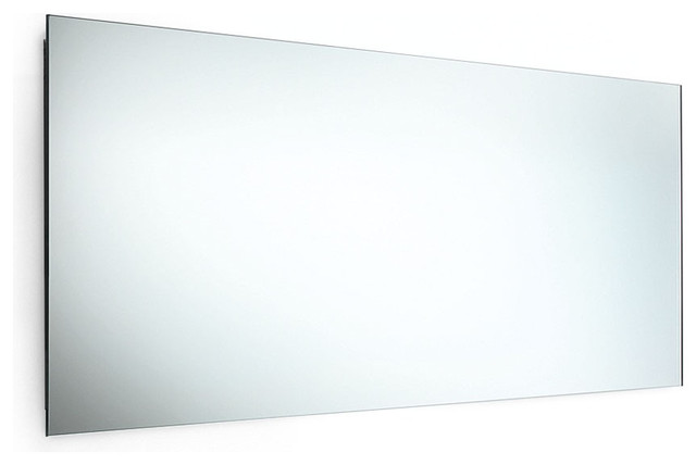Speci 5656 Mirror With Stainless Steel Frame 39 4 X 17 3 Contemporary Bathroom Mirrors
