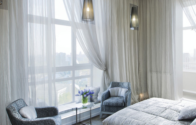 Custom Sheer Curtains - white with tie backs - Modern - Curtains ...