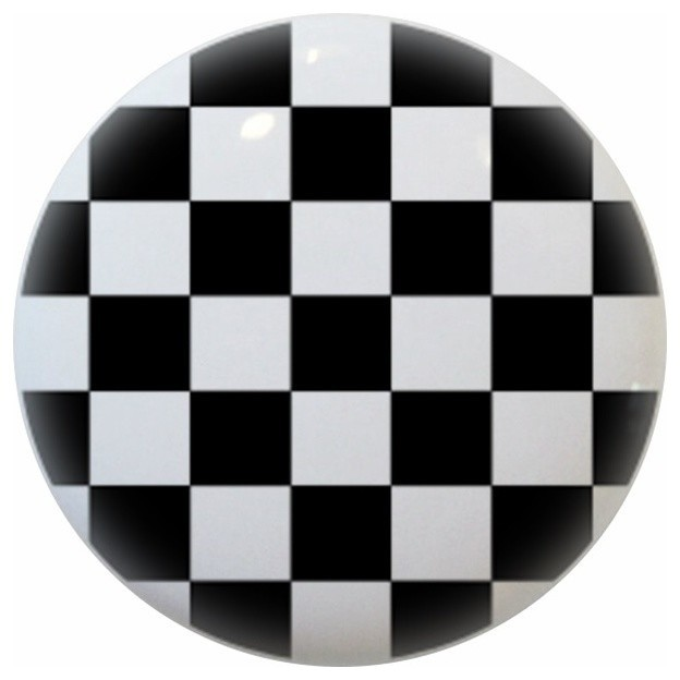 Black Checkered Ceramic Cabinet Drawer Knob traditional-cabinet-and-drawer-knobs