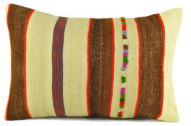 Southwestern Throw Pillow Covers : Vintage Living Room Kelim Pillow Cover- Throw Pillows -16