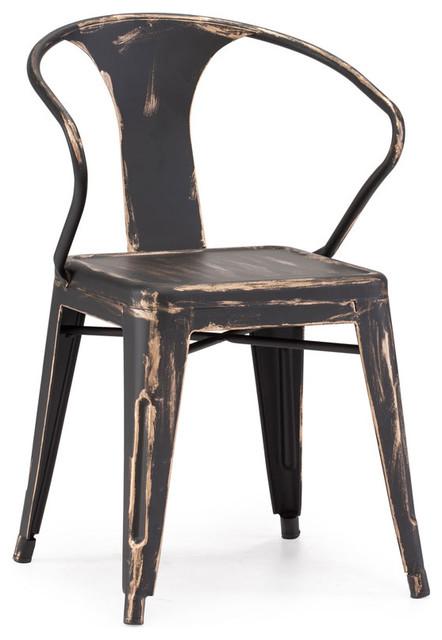 Victoria chair black industrial sillas de comedor for Sillas para comedor industrial