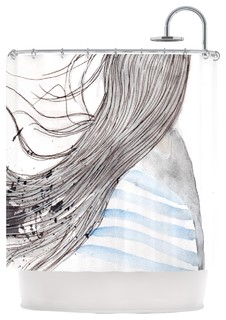 louise breeze gray blue shower curtain modern. Black Bedroom Furniture Sets. Home Design Ideas