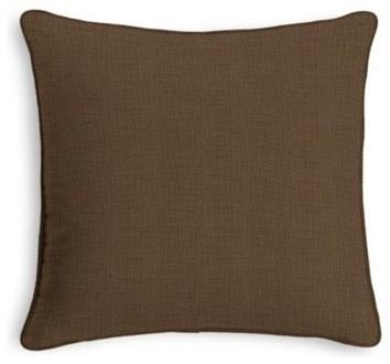 Dark Brown Throw Pillows : Dark Brown Lightweight Linen Custom Throw Pillow - Contemporary - Decorative Pillows - by Loom Decor