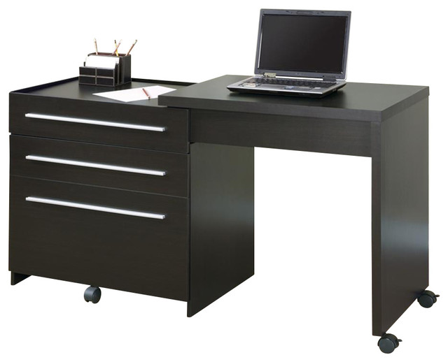 slide out desk w storage drawers contemporary desks writing