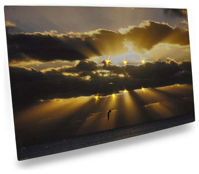 Beams Of Hope Led Lighted Canvas Wall Hanging