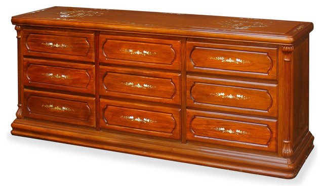 Rosewood Mother Of Pearl Inlaid Dresser Asian Dressers