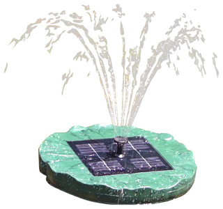 Large Floating Lily Solar Pond Fountain Contemporary