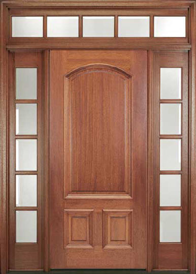 Ridgecrest Mahogany Entry Door With Sidelights And Transom