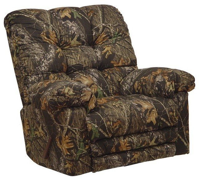 Catnapper magnum mossy oak chaise rocker recliner 4689 for Berkline chaise recliner