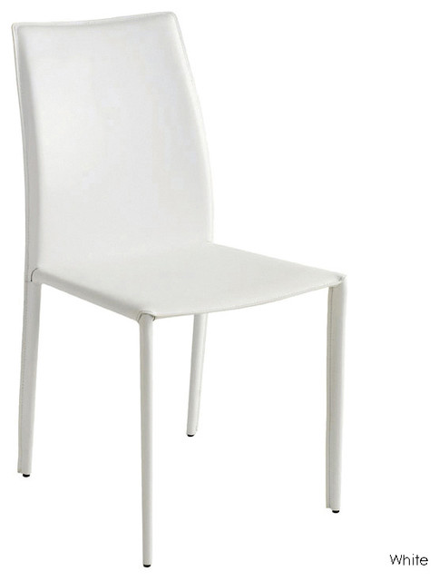 Sienna Dining Chair Set Of 2 White Contemporary Dining Chairs By Inmod