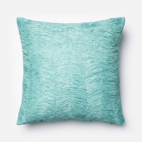 Light Blue 22 Inch Decorative Pillow Modern Bed Pillows