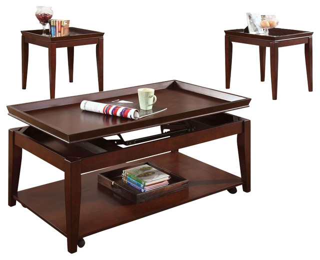 Clemens 3 Pc Occasional Table Set Contemporary Coffee