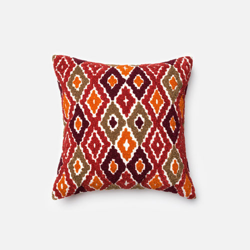 Red Throw Pillow For Bed : Red and Orange 18-Inch Decorative Pillow - Modern - Bed Pillows - by Bellacor