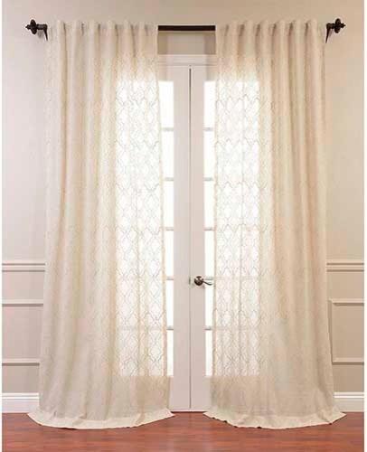 Saida natural brown 108 x 50 inch curtain single panel for 108 window treatments