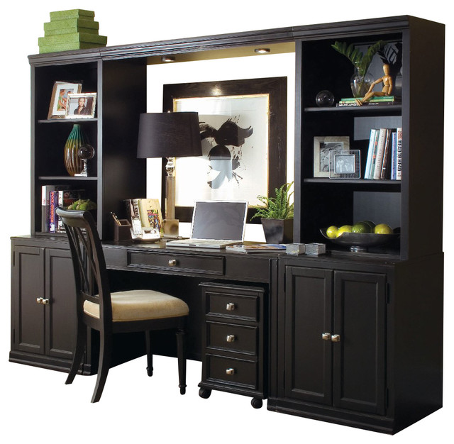 American Drew Camden Dark 3 Piece Living Room Set In Black Traditional Living Room Furniture