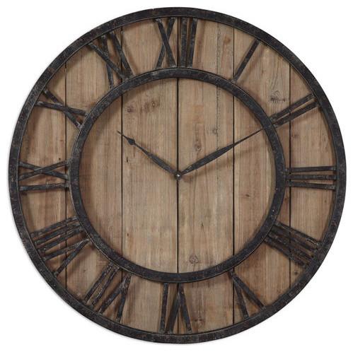 uttermost powell clock farmhouse clocks by buildcom