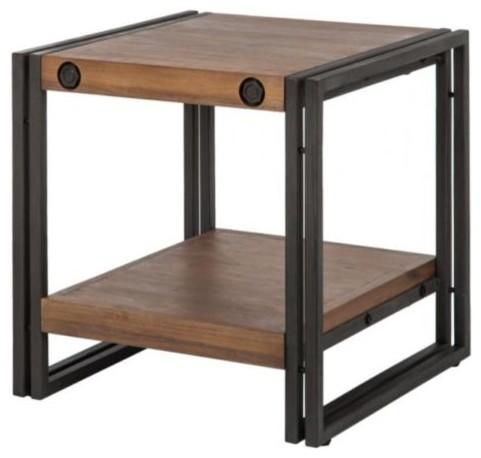 beistelltisch manchester akazie holz metall v furnlab. Black Bedroom Furniture Sets. Home Design Ideas