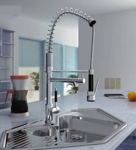 Kitchen Tap With Pull Out Spray Contemporary Kitchen Taps London