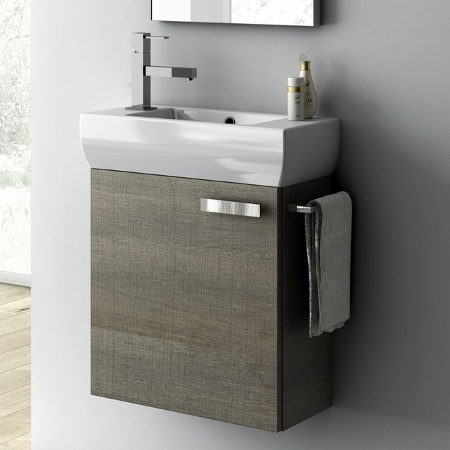 18 inch vanity cabinet with fitted sink contemporary bathroom vanities