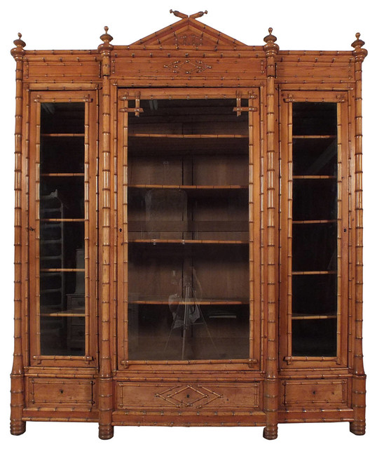 Consigned 19th Century Bamboo Display Cabinet - Traditional - China Cabinets And Hutches - by ...