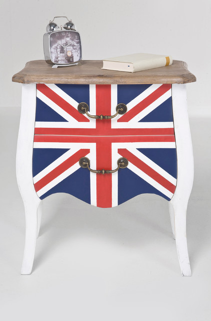 table de chevet union jack. Black Bedroom Furniture Sets. Home Design Ideas