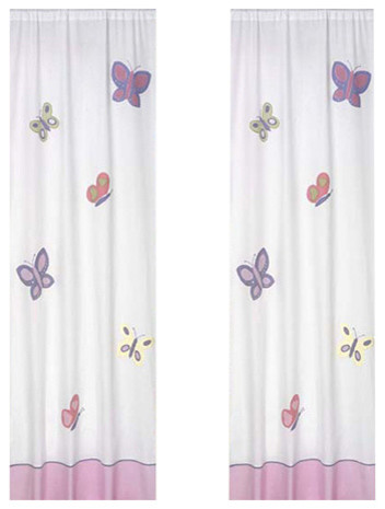 Butterfly Window Curtain Panels Lavender Curtains By Beds Bunks Lofts