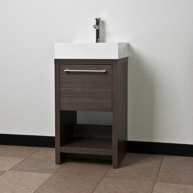 20 Bathroom Vanity Set Grey Oak TN L500 GO Contemporary Bathroom Va
