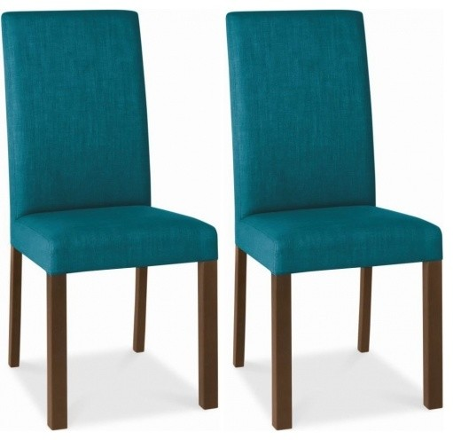 Bentley designs parker walnut dining chair teal square