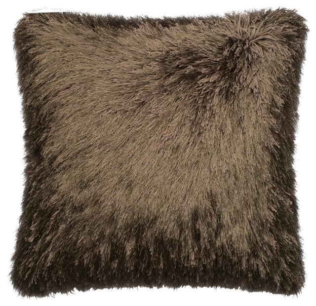 loloi inc 22 x22 pillow brown contemporain coussin. Black Bedroom Furniture Sets. Home Design Ideas