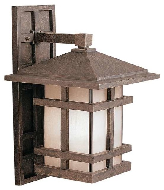 Kichler Lighting 9131AGZ Cross Creek Arts And Crafts Mission Outdoor Wall Lig