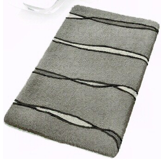 Grey Contemporary Bathroom Rugs Flow Extra Large Modern Bath Mats By Vita Futura