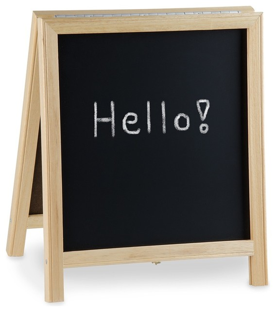 Tabletop A Frame Sign With Black Chalkboard Modern