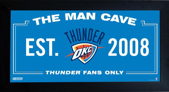 Gamer Man Cave Signs : Oklahoma city thunder man cave sign framed photo
