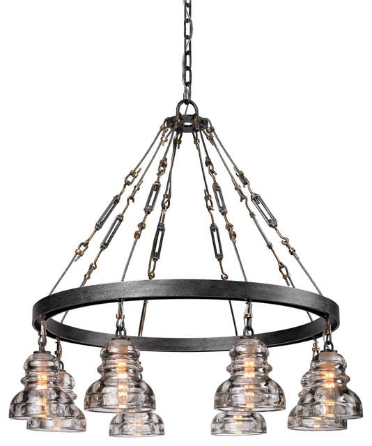 Troy Lighting F3136 Menlo Park Old Silver Pendant Farmhouse Pendant Light