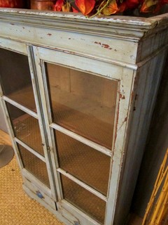 SOLD Light Blue Vintage Curio Cabinet - Eclectic - Storage Cabinets - st louis - by Hammer and Hand