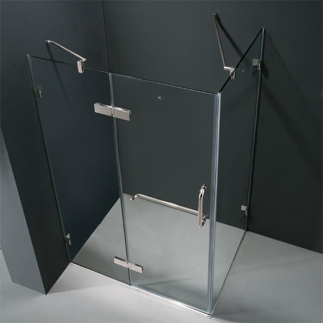 shower enclosures shower stalls and kits miami by dreamline french corner shower enclosure and black base