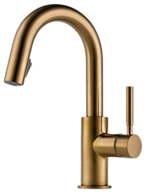 Brizo 63920lf Bz Solna Brushed Bronze Pull Down Bar Faucet