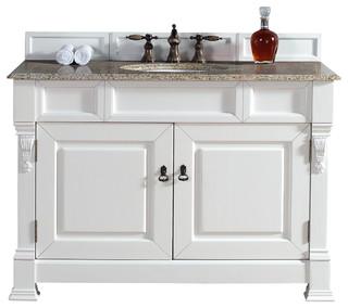 brookfield 48 cottage single vanity with beige rust stone
