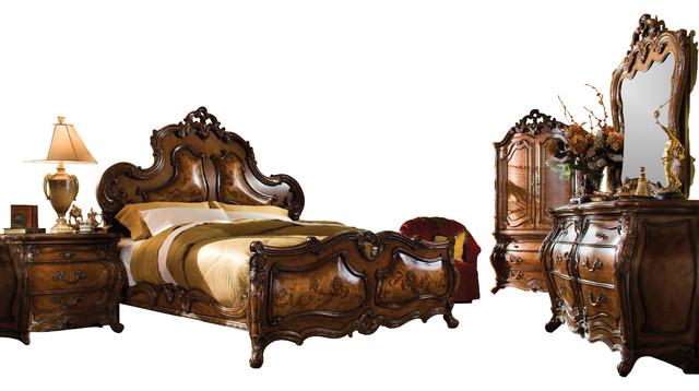 bedroom set rococo cognac finish victorian bedroom furniture sets