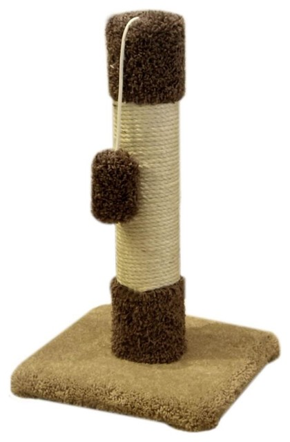 """24"""" Kitty Cat Scratch Post - Traditional - Pet Supplies - by Majestic Pet Products"""