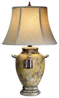 Natural light herculaneum ceramic table lamp traditional - Traditional table lamps for bedroom ...