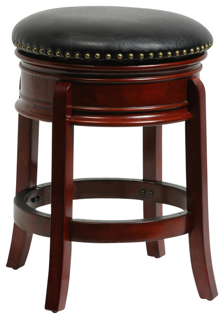 Boraam Hamilton Swivel Stool In Cherry Modern Bar