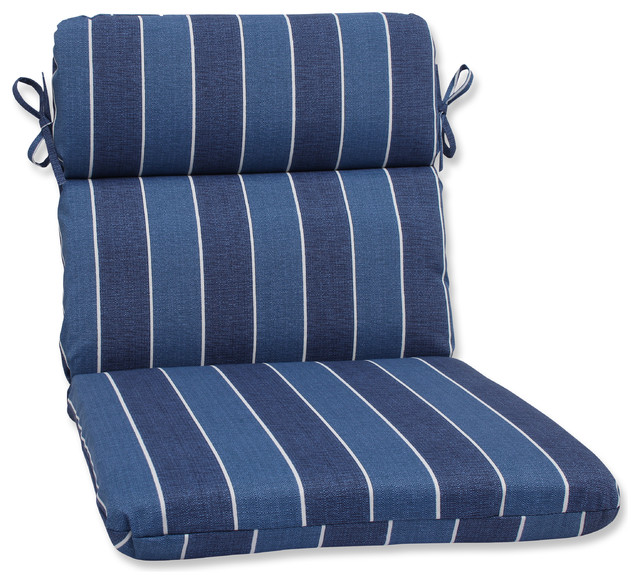 Beach Style Outdoor Cushions : Wickenburg Rounded Corners Chair Cushion, Indigo - Beach Style - Outdoor Cushions And Pillows ...