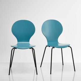 Chaise empilable lot de 2 watford contemporain - La redoute chaise longue ...